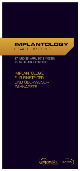 IMPLANTOLOGY START UP 2012