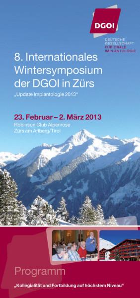 8. Internationales Wintersymposium der DGOI