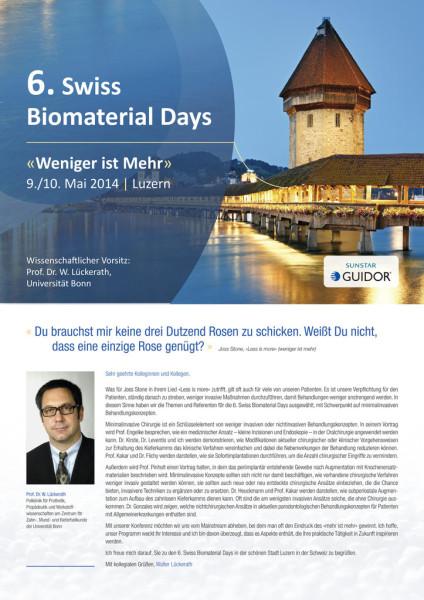 6. Swiss Biomaterial Days