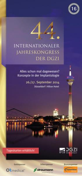 44. Internationaler Jahreskongress der DGZI