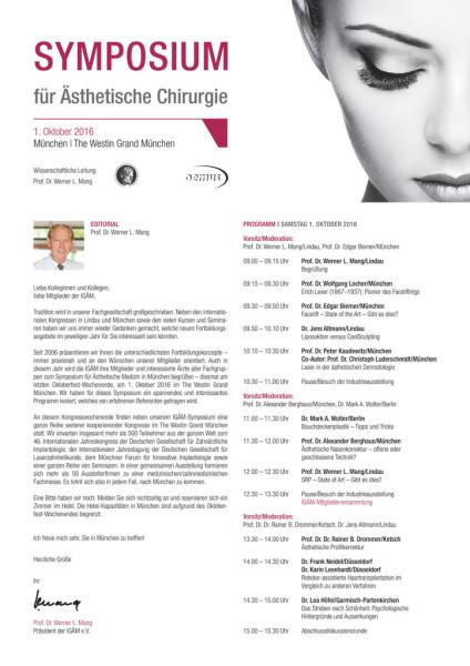Symposium für ästhetische Chirurgie und Kosmetische Zahnmedizin