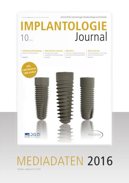 Mediadaten Implantologie Journal