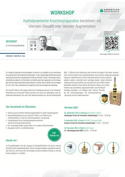 Workshop zur Hydrodynamischen Knochenpräparation (inkl. Hands-on)