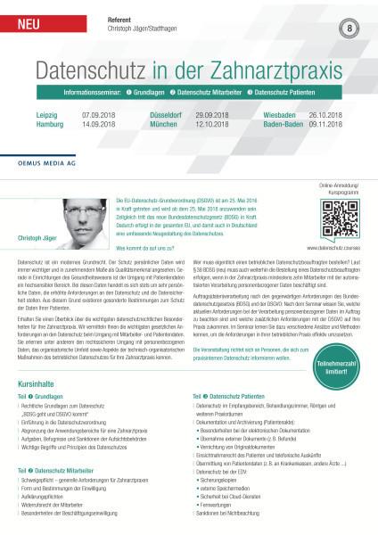 Kurse zur EU-Datenschutz-Grundverordnung