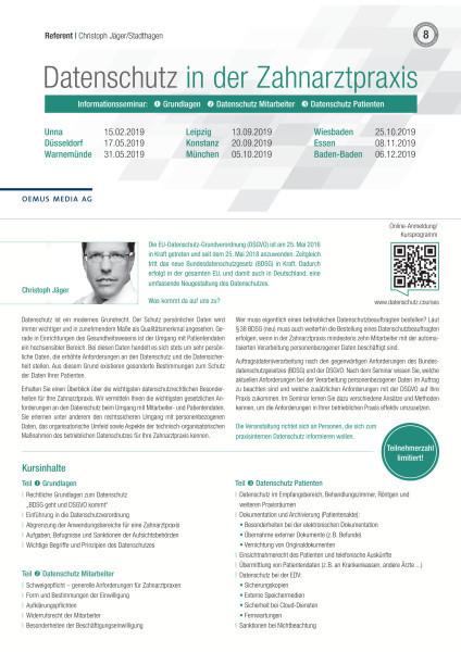 Datenschutz in der Zahnarztpraxis