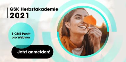 GSK Herbstakademie 2021: 3-teilige Webinar-Serie im Oktober
