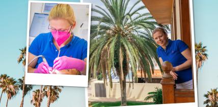 Als ZMP auf Teneriffa: Prophylaxe unter Palmen
