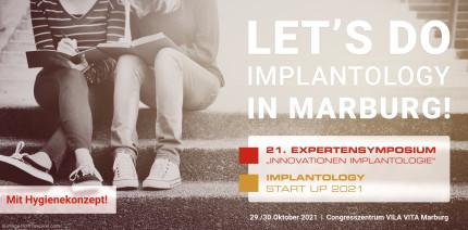 Let's do Implantology: Jetzt Veranstaltungskombination sichern!