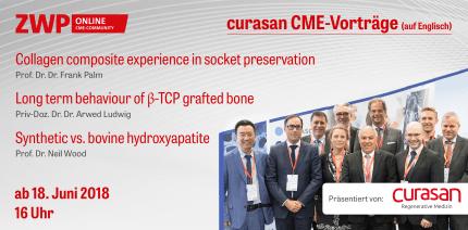 """curasan CME-Vorträge zu """"Bone Regeneration"""" jetzt online"""