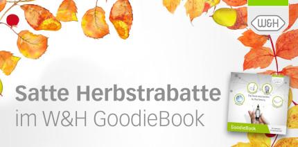 Satte Herbstrabatte mit dem W&H GoodieBook sammeln