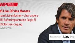 1 CME-Punkt: SDS Live-OP mit Dr. Karl Ulrich Volz im Archiv abrufbar