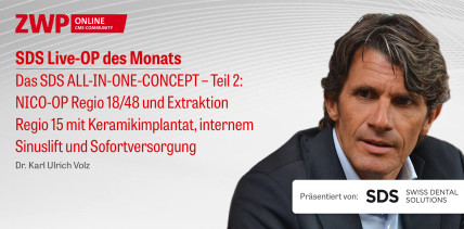 """1 CME-Punkt: Live-OP """"Das SDS ALL-IN-ONE-CONCEPT – Teil 2"""" im Archiv"""