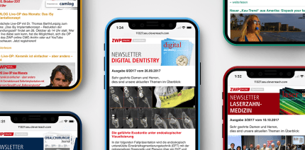 Fachlich up to date: Spezialisten-Newsletter Digital Dentistry