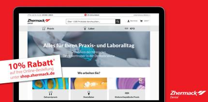 Zhermack präsentiert neuen Online Shop: Jetzt bestellen