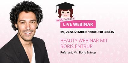 Perfektes Praxis-Make-up: Boris Entrup gibt online Beauty-Tipps