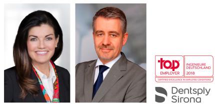 """Dentsply Sirona erneut """"Top Employer Deutschland 2018 Ingenieure"""""""