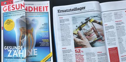 """Focus Gesundheit: Sonderausgabe zum Thema """"Gesunde Zähne"""""""