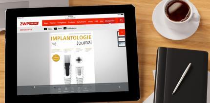 Aktuelles Implantologie Journal mit Fokus auf Keramikimplantaten