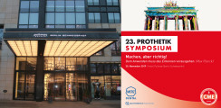 23. Prothetik Symposium am 30. November in Berlin