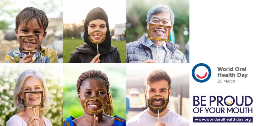 """Weltmundgesundheitstag 2021–2023: """"Sei stolz auf deinen Mund"""""""