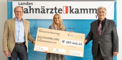 Tiroler Zahnärzt:innen spenden Zahngold an Kinderkrebshilfe