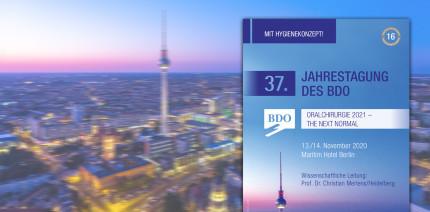 Oralchirurgie im November in Berlin: BDO lädt zur 37. Jahrestagung ein