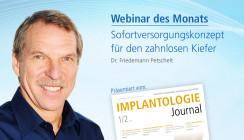 Webinar Sofortversorgungskonzept für den zahnlosen Kiefer