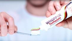 Neu im Regal: Zahnpasta mit Whopper-Geschmack