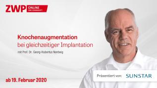 Knochenaugmentation bei gleichzeitiger Implantation