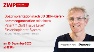 Spätimplantation nach 3D GBR-Kieferkammregeneration
