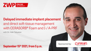 Delayed immediate implant placement and direct soft-tissue management with CERASORB® Foam and I-/A-PRF