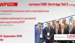 """curasan CME-Vorträge zu """"Bone Regeneration – Teil 2"""" jetzt online"""