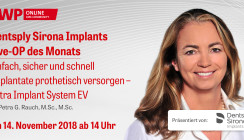 Heute ab 14 Uhr einschalten: Dentsply Sirona Implants Live-OP