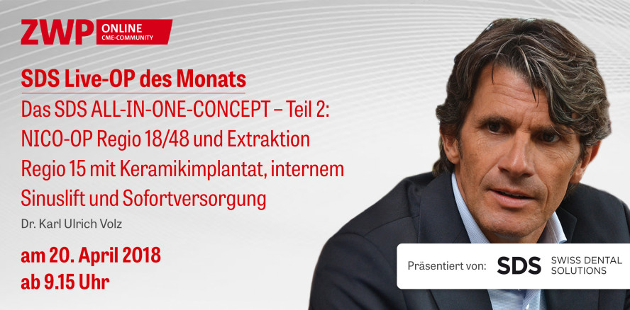"Morgen Live-OP ab 9.15 Uhr: ""Das SDS ALL-IN-ONE-CONCEPT"""
