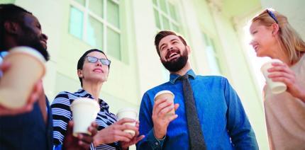 In vier Schritten zum routinierten Small Talker