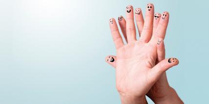 """""""5-Finger-Regel"""" für mehr Gelassenheit"""