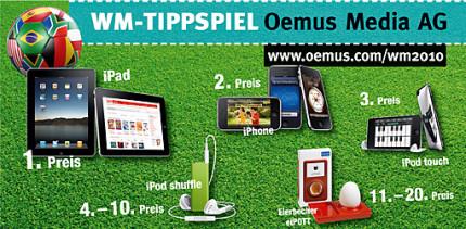 Neues iPad gewinnen - werden Sie zum WM-Propheten
