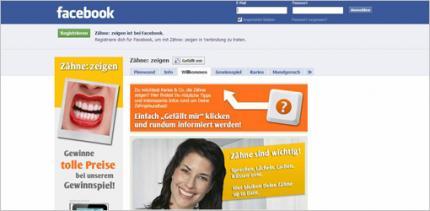 Zahngesundheit auf Facebook