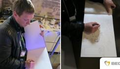 Leipziger Künstler malt in BEGO-Praxis für den guten Zweck