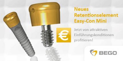 BEGO: Neues Retentionssystem für Mini-Implantate