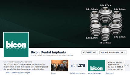 Bicon auch auf Facebook aktiv