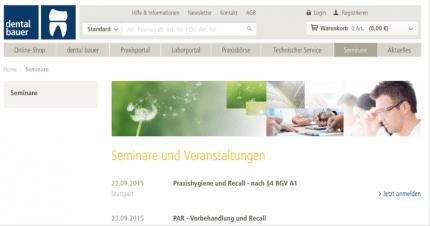 Schnell & übersichtlich online Seminare buchen