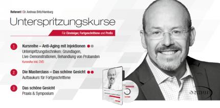 """Kursreihe """"Unterspritzungstechniken"""" 2017 in München, Wien & Berlin"""