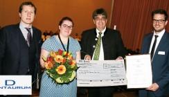 Dentaurum gratuliert der Preisträgerin des Förderpreises der ÖGKFO 2016