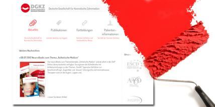 Website der DGKZ erhält neuen Anstrich