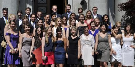 Diplomfeier der ZZM Zürich in der Kirche Fluntern