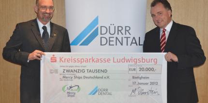 Dürr Dental spendet 20.000 Euro an Mercy Ships