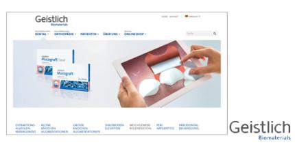 Besser informiert: Neue Website der Geistlich Pharma AG