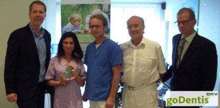 Auszeichnung für goDentis-Partnerzahnarzt
