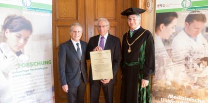 Med Uni Graz verleiht Ehrendoktorwürde an Abe Fingerhut